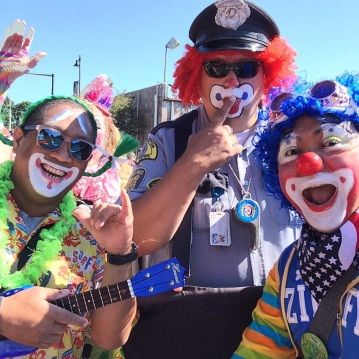 With the Seafair Clowns